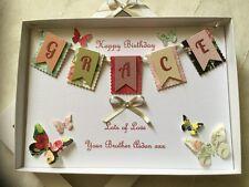 Handmade Personalised Boxed Card Birthday Mum Nan Daughter Wife Granddaughter