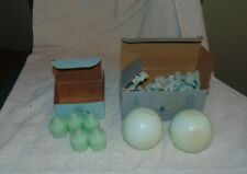"""7 Partylite Honeydew 3"""" Ball Candles and votives Light Green Mint color"""