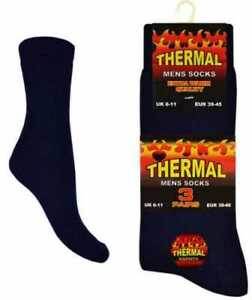 Mens Quality Black Ultimate Extra Thick Warm Brushed Thermal Socks Xmas Gift lot