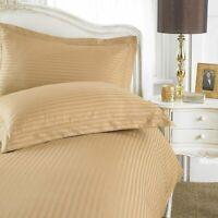 Sateen Stripe Duvet Cover Set 100% Egyptian Cotton Hotel Quality Bedding Sets