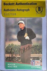 Roger Maltbie Signed 1991 Pro Set #50 Card Beckett BAS COA BGS PGA Tour Golf