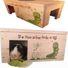 Nagerhaus Kleintierhaus Meerschweinchen mit 2 Eingängen, Holzlasur & Aufklappbar