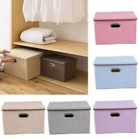 45x30x30cm Folding Collapsible Storage Box Organizer Canvas Fabric Cube Room