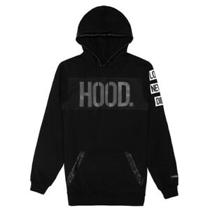 Cayler & Sons Black Label Hood Love Long Hoody Men's Black White Hoodie Top