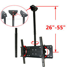 "LED LCD Plasma TV Ceiling Mount 40 42 43 46 47 48 50 55 60 65"" Tilt Swivel BWD"