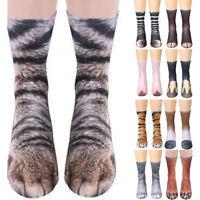 3D Print Unisex Adult/Kids Elastic Sock Animal Paw Feet Crew Foot Funny Socks
