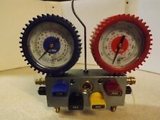 Mastercool 4-Way Manifold And Gauges, No Hoses, For134A