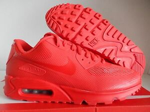 """NIKE AIR MAX 90 HYP HYPERFUSE PREMIUM iD ALL RED """"RED OCTOBER"""" SZ 9 [653603-991]"""