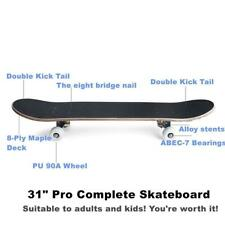"Cctro Skateboards 31"" Pro Skateboard Complete, 8 Layer Maple Skateboard Deck"