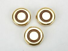 "Vintage Button Covers, Set of 3 Gold and Brown 3/4"" Button Covers"