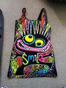 Cyberdog Rave Range Ultraviolet Smile Vest Top Size Medium