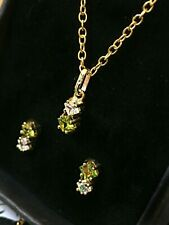 9CT Yellow Gold Pendant and Earring Set - NEW ITEM - Hallmarked