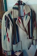 Vintage 40's 50's Ganscraft Chimayo Blanket Cream Wool Jacket  SZ 12