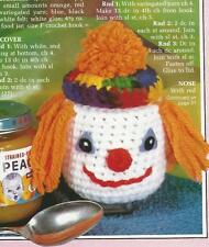 Crochet Pattern ~ Baby Clown Jar Cover ~ Instructions