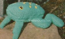 VINTAGE TOY KNITTING PATTERN FOR CUTE LITTLE FROG -  just 50 grams DK needed