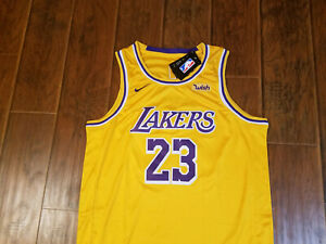 Los Angeles Lakers Lebron James Gold Jersey sz 52