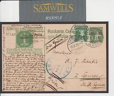 MS958 1914 Mostra Svizzera Carta A SAMO VATHY GRECIA in Blu/ISOLE