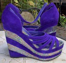 Wedge Peep Toe Heels for Women 100% Leather OFFICE