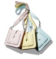 NWT Rebecca Minkoff Mini Unlined Feed Leather Crossbody Shoulder Bag Pink~Yellow