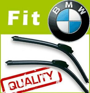 2 x Front Windscreen Wiper Blades Specific Fit FLAT BEAM for BMW