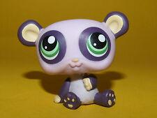 P2) Littlest Pet Shop LPS - Panda Bear Bär violett #1305