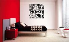 FOOTBALL COLLAGE SUBWAY LETTERING DECAL WALL VINYL DECOR STICKER ROOM SPORTS KID