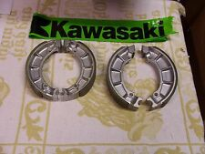 KAWASAKI H1/H1A/H1C DRUM BRAKE FRONT & REAR NEW BRAKE SHOE SET-NEW RARE-MACH III