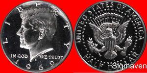 1969 S 40% Silver Kennedy Half Dollar Gem Proof