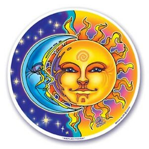 Mandala Arts Window Sticker Double Sided: Reflections / Sun and Moon 11.7cm