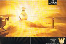 Publicité Advertising 2012 (double page) Parfum CARON parfum sacré pour la femme