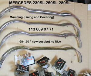 MERCEDES 230SL 250SL 280SL  Instrument Cluster Chrome Bezel OEM w113 1136890771