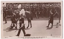 The Funeral Procession of King Edward VII PPC, Putney SW 1910 PMK By Rotary