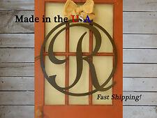 """24"""" Monogram Front Door Hanger-Personalized Door Sign-Initial Letter Sign-DS1019"""