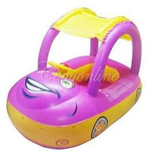 Inflatable Baby Kids Float Seat Boat Car Sunshade Swim Pool Swimming Ring New