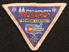 MONARCH Mountain Vintage Skiing Ski Patch COLORADO CO Resort Souvenir Travel