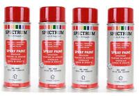 4 Bombes Rouge Peinture en  Aérosol  Spray 400 ml Bois Metal Plastique