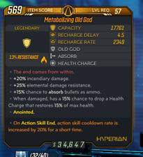 Borderlands 3 Pc Lvl 57 Old God  Action Skill End 20% Action Skill Cooldown
