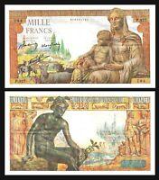France, 1000 Francs, Déesse Déméter, 1942 P 102 VF / XF P. Rousseau and R.