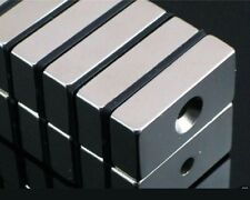 20pcs Super Strong Block Magnets 20 x 10 x 5mm Hole 4mm Rare Earth Neodymium N50