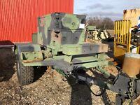 FERMONT MEP-802A 5KW Military Diesel Generator 60HZ 105 Hours HMMWV on trailer