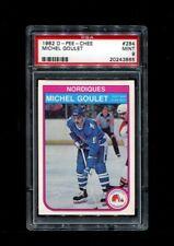 1982 MICHEL GOULET OPC #284 O PEE CHEE NORDIQUES PSA 9