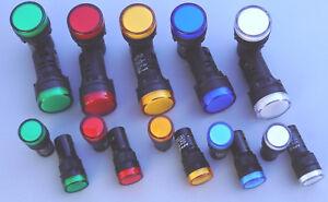 LED Leuchtmelder Ø 22mm Ø16mm 12V 24V 220V verschiedene Farben LED Signalleuchte