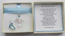New Baby Boy Birth Gift Guardian Angel keepsake present Personalised MEMORY BOX