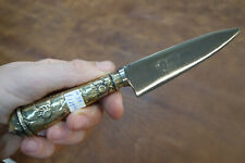Juca Gaucho Knife from Argentina, Carbon Steel with Nickle Silver Sheath #38