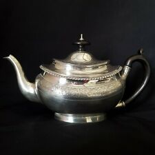 Antique Solid Sterling Silver Bachelor's Teapot, 1877 Angell & Co, London.