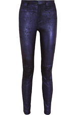 HAIDER ACKERMANN Metallic Stretch Suede Leather Pants Jeans **£1595.00**