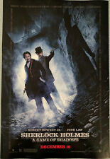 SHERLOCK HOLMES A GAME OF SHADOWS poster 11.5x17 Robert Downey Jr Jude Law