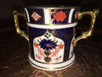 Royal Crown Derby Old Imari 1128 2 Handled Loving Cup 8 cm