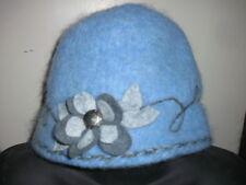 Handmade Wool Felt Hat w/Beads   Hat Hautees   6503