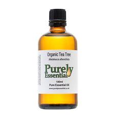 Organic Tea Tree Essential Oil 10ml 50ml 100ml 100% Pure & Natural, Purely